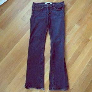 Abercrombie stretch dark wash boot cut jeans